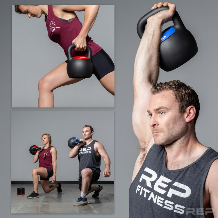 workout with adjustable kettlebells - compact home gym equipment